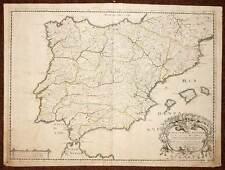 CARTE GENERALE D'ESPAGNE carte geographique ancienne par Sanson d'Abbeville 1658