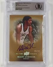 MAGIC JOHNSON Signed UD All Time Greats GOLD card /50  Beckett BGS BAS Autograph