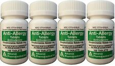 Chlorpheniramine 4 mg Allergy Generic for Chlor-Trimeton 100/Bottle  PACK of 4