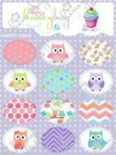 Honeybug MAGNETIC reborn doll PACIFIER baby Happy OWLS SPRINKLES sheet 12 decals
