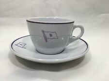 Cup and Saucer from Stanhope Shipping Steamship Line British 1950s-60s
