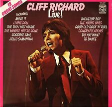 CLIFF RICHARD live: 18 great songs MFP 50307 uk music for pleasure LP PS EX/EX-