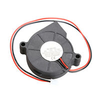 Black Brushless DC Cooling Blower Fan 2 Wires 12V 0.14A 50x15mm Sleeve-bearing