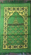 Soft Cloth Prayer Mat Jai Numaz For Muslim Prayer Light Weight ALLAH MUHAMMAD UK