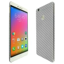 Skinomi Silver Carbon Fiber Skin+Clear Screen Protector for Huawei Honor Note 8