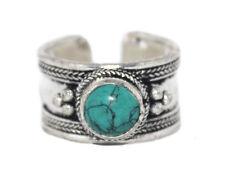Turquoise ring healing ring Silver ring Nepal ring Tibetan ring Boho Ring D