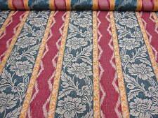 6mt Rot grün & Mandarine streifen gewebt vorhang polster stoff material 128cm
