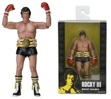 Rocky III Rocky in Black Trunks with Belt Series 1 Action Figure NECA