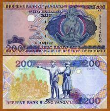 Vanuatu, 200 vatu, ND (1995, 2011), P-8c, DD-Prefix, UNC