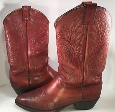 Vintage Justin Distressed Brown Leather Cowboy Western Boots Size 8 EEE 2520