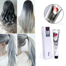 New Permanent Hair Color Cream Light Grey Silver Color Unisex Hair Dye POP