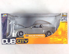 Dub City Ford Mustang Convertible 1:24 Scale Diecast Metal Silver Cartelli Wheel