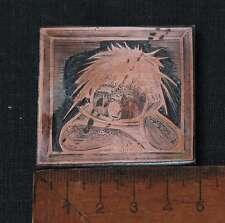 KIND Galvano Druckstock Kupferklischee Druckplatte Eichenberg weinend Junge