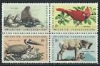 USA - MNH Block of 4 Stamps -8c Wildlife Conservation