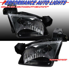 97-05 CHEVY VENTURE 99-05 PONTIAC MONTANA BLACK HOUSING HEADLIGHTS PAIR NEW