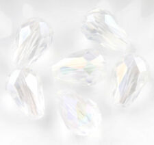Hot 20Pcs Faceted Teardrop glass crystal Finding Loose Spacer beads 8x12/16x10mm