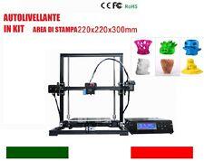 STAMPANTE 3D in ALLUMINIO, AUTOLIVELLANTE, LCD, FORMATO EXTRA LARGE ITALIA GARAN