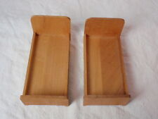 Dollhouse Miniature Twin Beds Pine Wood Bedroom Furniture 1:12 Vintage Retro