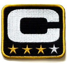 SUPER BOWL 50 CAROLINA PANTHERS THREE-STAR 3-STAR CAPTAIN's JERSEY BLACK PATCH
