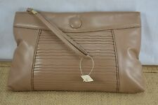 VINTAGE SALISBURYS 1980s brown clutch bag NEVER USED