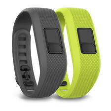 Garmin Vivofit 3 Shark Fin Grey Borealis Green Watch Wrist Bands - 010-12452-01