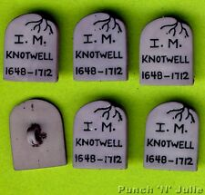 GRAVESTONE Halloween Graveyard Grey Headstone Novelty Dress It Up Craft Buttons