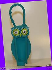 Bath & Body Works BLUE OWL Green & White Diamond Eyes Lip Gloss Case Holder