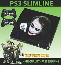PLAYSTATION 3 SLIM PS3 SLIM WHY SO SERIOUS JOKER 001 STICKER SKIN & 2 PAD SKINS