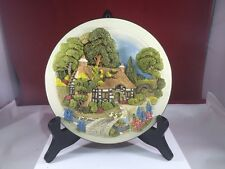 Davenport Studios Hollyhock Cottage Limited Edition Plate