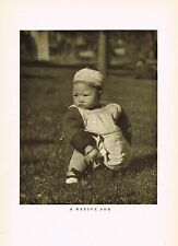 1910's Old Vintage Asian Chinese Native Son Boy Child Genthe Photo Gravure Print