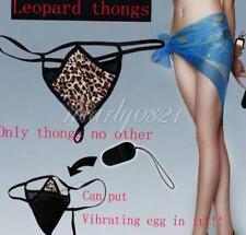 Sexy Women Ladies Underwear Leopard Panties G-Strings Thong Pants for Vibrator
