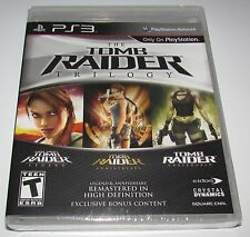 Tomb Raider Trilogy for Playstation 3 Brand New! Factory Sealed!