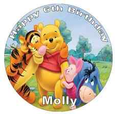 Winnie The Pooh Personalised Cake Topper Edible Wafer Paper 7.5""