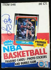 Larry Bird Signed Autographed 1986 Fleer Box Rare JSA Authenticated #1