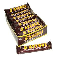5th Avenue 18ct Case Full-Size Milk Chocolate Peanut Butter Candy FREE SHIPPING