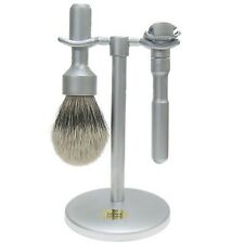 Merkur Futur 3 Piece Safety Razor Shaving Set in Brushed Chrome (780)