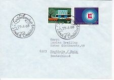 First day cover, Luxembourg, Scott #468-469, Mondorf-les-Bains, Lux. Fair, 1968