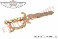 NEW SWORD SHAPE BRASS RIGHT CUT BLANK KEY ROYAL ENFIELD MOTORCYCLES @CAD