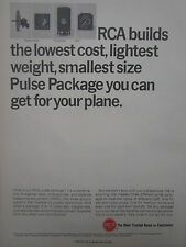 6/1967 PUB RCA AVIATION EQUIPMENT PULSE PACKAGE TRANSPONDER DME WEATHER RADAR AD