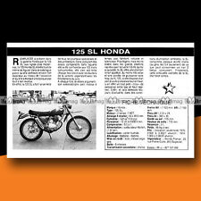★ HONDA SL 125 ★ 1976 Essai Moto / Original Road Test #c134