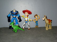 Lot 5 Figurines Toy Story - Buzz l'Eclair /Woody/Pile Poil/Rex/Jessie