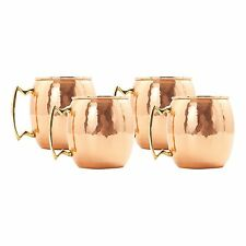 24 oz. Hammered Solid Copper Moscow Mule Mugs (Set of 4)