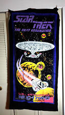 Vintage 1993 Star Trek Next Generation Beach Towel- BLACK (SRP-125)