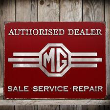 MG Motors Authorised Dealer Large Metal Sign - Man Cave/Pad/Den/Garage/Shed NEW!