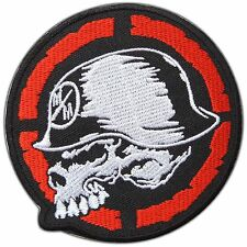 Skull Metal Mulisha Helmet Biker Rocker Sew Embroidered Iron-On Patches #0790