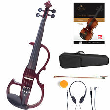 Cecilio Size 4/4 Electric Violin Ebony Fitted ~ Red Style2