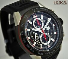 Tag Heuer Men's Carrera HEUER 01 CHRONO 45mm steel black titanium skeleton NEW