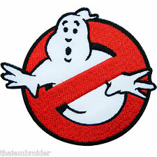 No Ghost Ghostbusters Movie Cartoon Kids Sew Embroidered Iron on Patches #M015