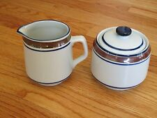 Salem Stoneware Creamer and Sugar with Lid