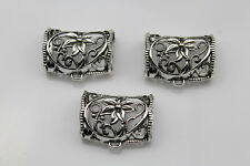 3 PCS/Lot Alloy flower style  Jewelry  Scarf Bails Pendant accessory